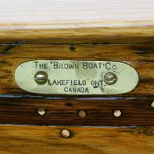Brown Boat Company tag