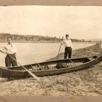 Two guys and a canoe