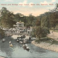 Canoes, Band Stand and Bridge